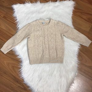 Class club oatmeal cable knit sweater, 5
